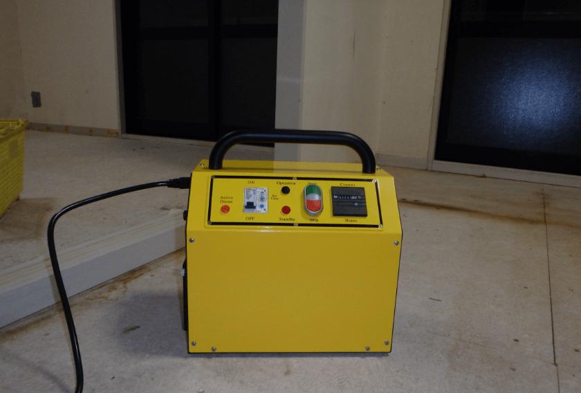 室内空間にオゾン発生装置を設置